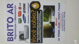 Higienização manutenção e instalação ar split