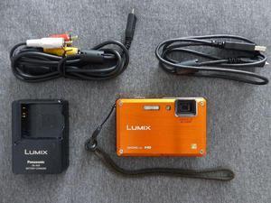 Prova d'água panasonic lumix lente leica dmc-ts1 laranja