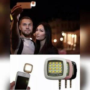 Flash led luz para câmera frontal do celular mini portátil