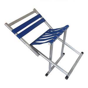 Cadeira banqueta dobravel aluminio banco praia e camping
