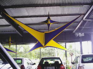 Estrelas em tecido 6 pontas p/ decoração