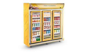 Freezer 3 porta de vidro auto serviço refrigerador bebidas