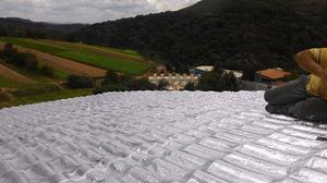 Impermeabilização de telhados e lajes - manta aluminio e