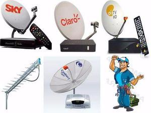 Instalação de antenas em geral,manutenção e apontamento,