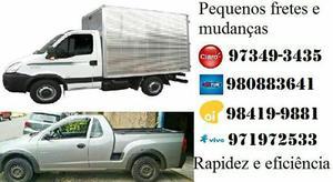 Mudanças e transporte em caminhão bau