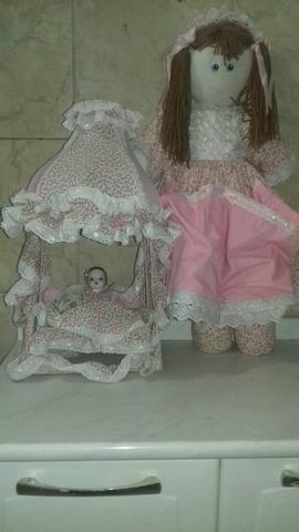 Abajur de pano + porta fralda de boneca