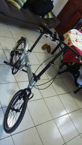 Bike dobrável marchas shimano