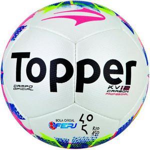 Bola futebol campo topper kv 12 carbon oficial 74232475a5142