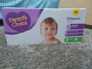 Fraldas parent's choice 50 cada