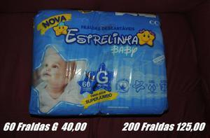 Pct fralda g baby 200fraldas