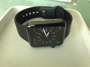 beffdf948d7 Apple watch 42mm preto inoxidável safira série 1
