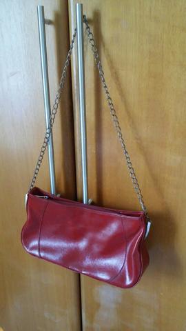 Bolsa de couro + bolsa verniz de brinde