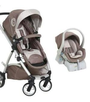 Carrinho + bebê conforto + suporte para o carro