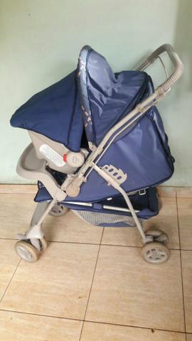 Carrinho + bebê conforto galzerano ursinho marinheiro