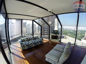 Cobertura jardins, 381m² - 04 dormitórios, rua bela