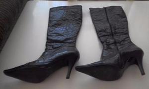 Lote de 2 botas cano longo (1 preta / 1 cinza)