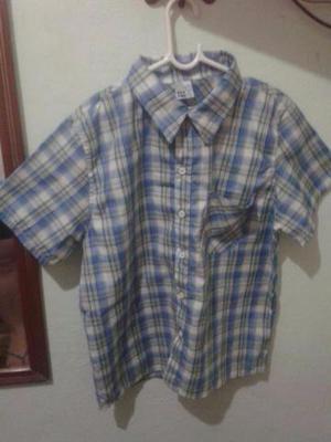 Lote de 2 camisas xadrez (menino t. 12 e menina t.14)