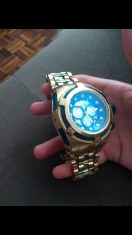 Relógio invicta bolt zeus ouro original