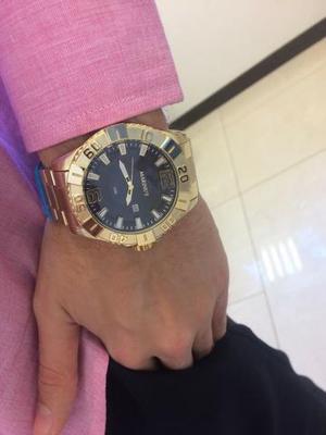 Relógio de luxo dourado original (mega oferta)