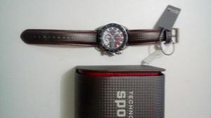 Relogio technos ts carbon. pulseira de couro. novo