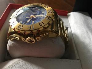 463cd9815ed Relogio zerado dourado original invicta impecável
