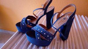 5c593a8215 Sapato azul alto   REBAIXAS Maio