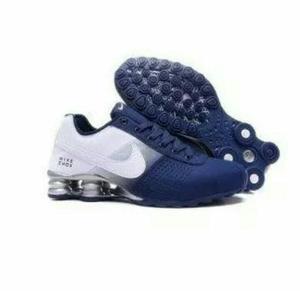 2e0e29edea5 new style nike shox 4 molas preto e azul de1c1 960bf