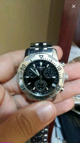 973fce9391e Vendo lindo relógio suíço tissot original