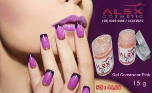 Gel 15g pink naturral (alex cosmetic) unhas 100% natural /