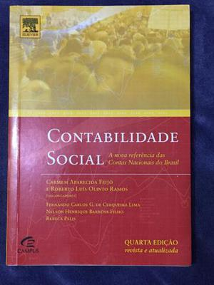 Contabilidade social - carmem a. feijó - 4ª edição