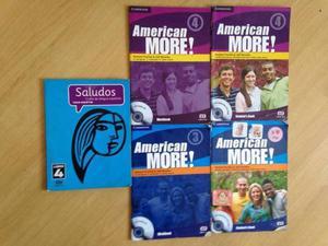 Livro ingles american more 3 e 4 kit 2 livros e cd espanho