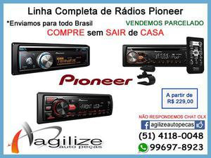 Pioneer - mp3 rádio cd player usb mixtrax bluetooth rca -