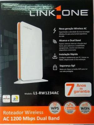 Roteador wireless 1200mbps ac1200 l1-rw1234ac brancolaranja