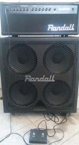 Amplificador randall rx120rh 120w com caixa randall 4x12