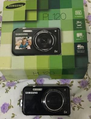 Câmera digital samsung pl120 preta 14.2mp ideal para