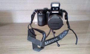 Câmera samsung wb 100 semi-profissional + pilhas com
