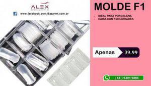 Molde f1 acrílico reutilizável (alex cosmetic)