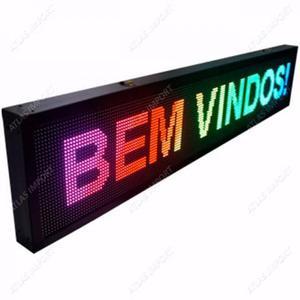 Painel de led colorido letreiro digital 1m x 20cm rgb