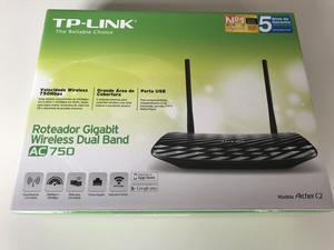 Roteador wireless tplink dual band ac 750