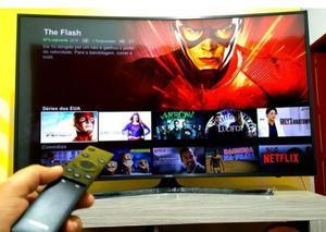 """Smart tv 55"""" tela curva 4k ultra hd hdr + nova (nunca)"""