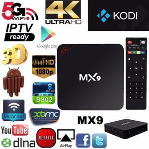 Tv box mx9 tv smart youtube netflix 4k ultra hd android 7.1