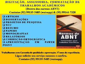 Digitação e assessoria de trabalhos acadêmicos