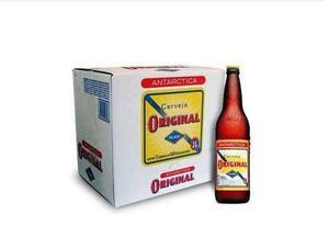 Antárctica original 600ml caixa c/12 un. (garrafas estão