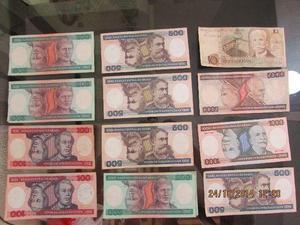 Cedulas, moedas e selos