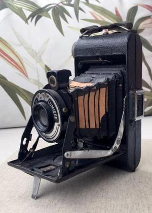 Câmera lumiere lumix f - de fole - antiga e raríssima