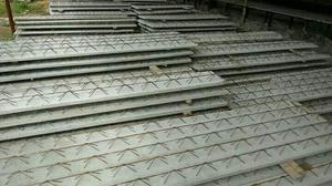 Laje treliça e blocos de cimento