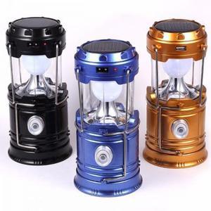 Lampião e lanterna led elétrica/solar recarregável