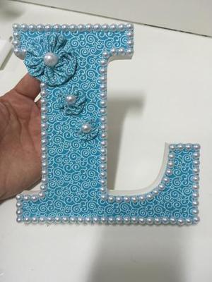 Letras em mdf decoradas