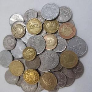 Lote 50 moedas antigas do brasil réis cruzeiros bronze