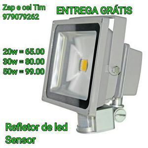 Refletor led c/ sensor de presença